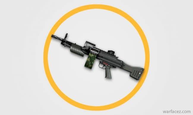 Пулемет штурмовика H&K MG4 - Warface