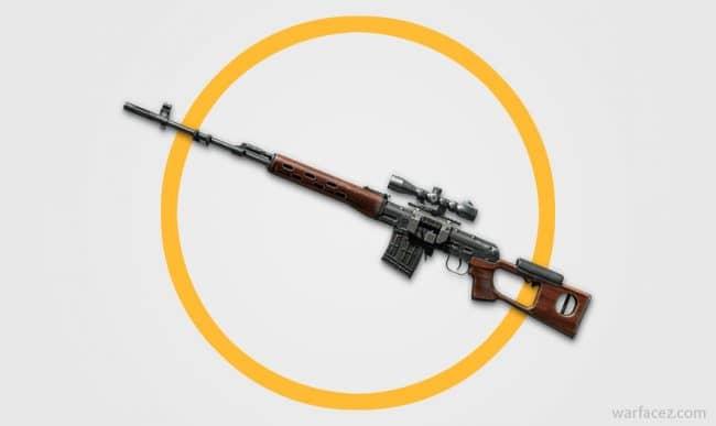 Снайперская винтовка СВД в Warface
